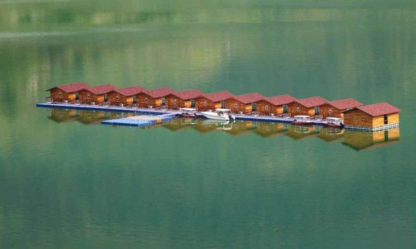 Tehri lake boat house